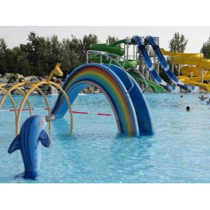 China Rainbow Shaped Outdoor Playing Water Playground Equipment For Children / Adults on sale