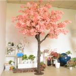 Plastic Trunk Artificial Cherry Blossom Tree 2.5m Height For Wedding Decor