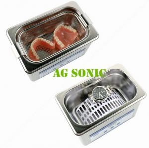 China 800ml Dental Sonic Bath Cleaner With SUS Basket , Ultrasonic Teeth Cleaning Machine on sale