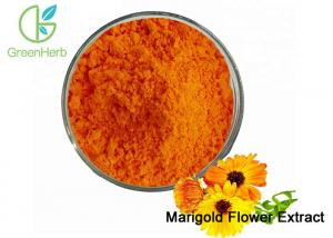 China Natural Food Coloring Powder / Marigold Flower Extract Powder Lutein 5%-80% on sale