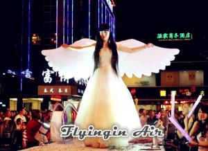 China Pure White Inflatable Angel Wings for Stage, Concert and Festival Decoration on sale