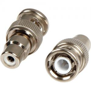 China Zinc Alloy BNC Male To RCA Female Connector , BNC Connector For CCTV on sale