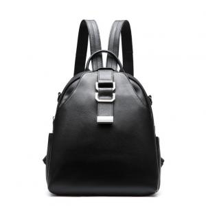China Women's Backpacks  Cowhide School Bag  Lichee Pattern Cow Leather Shoulder Bags on sale