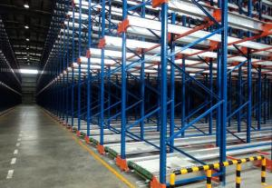 China Industrial Shuttle Storage System With High Density Steel Beam / Steel Rivet on sale
