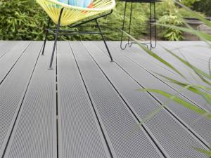 China Anti - Flaming Engineered WPC Composite Decking For Beach Chairs / Patio Handrails on sale