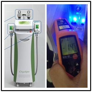 China 0.1 Celcius Step accurate cooling control cryolipolysis fat freezing machine for sale on sale