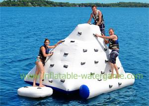 China 4 X 3 M Inflatable Water Sports Iceberg Floating Climbing Wall White Colored on sale