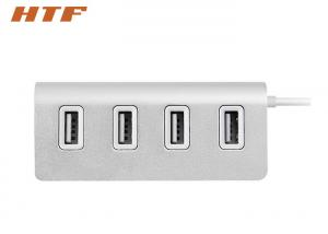China Aluminum Alloy Portable USB Hub 2.0 , High Speed 4 Port Powered USB Hub For Charging on sale