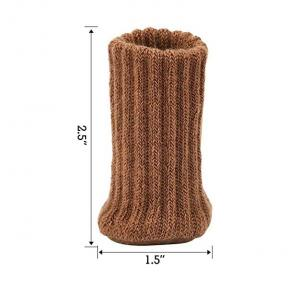 China Custom Fashion Furniture Pads High Elastic Floor Protectors Non Slip Chair Leg Feet Socks Covers Set on sale