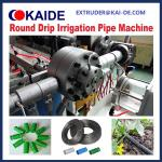 Cylindrical PE Drip Irrigation Pipe Making Machine/Drip Pipe Extruder Machine 10m/min servo dripper feeding and punching