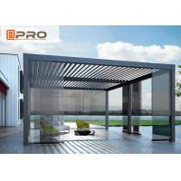 Waterproof Motorized Pergola System Price Aluminum Louver Roof