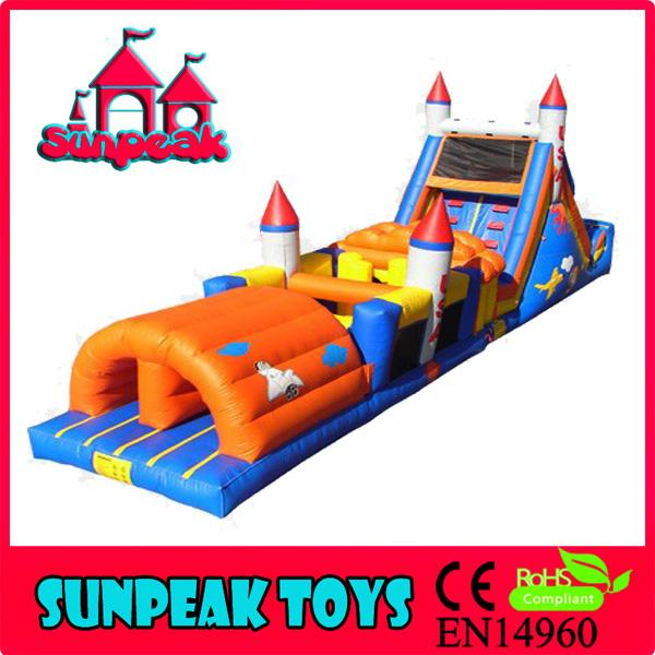 OB-005 Newest Design Rocket Cheap Inflatable Obstacle