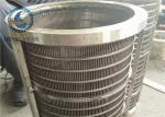 Safety Rotary Screen Drum For Animal Manure Treatment 0.85mm Slot Size