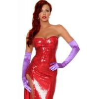 Wholesale Hollywood Costumes Toon Wife Costume made by Sequin cloth in Red with XXS to XXXL