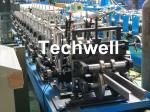 PLC Control System C Shaped Roll Forming Machine For Making C Purlin , C Channel With Hydraulic Cutting