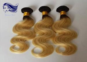 China Blonde Ombre Color Hair Unprocessed Double Drawn Hair Deep Wave on sale