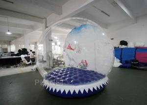 China Shopping Mall Life Size Snow Globe 0.8mm Clear PVC Material For Live Show on sale