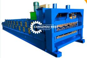 China Glazed Metal Tile GI Roofing Sheet Roll Forming Machine 20m/Min on sale