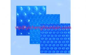 China Blue Swimming Pool Control System Inflatable Bubble PE Solar Cover 300 Mic - 500 Mic on sale