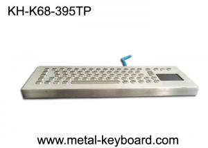 China 70 Keys Rugged Metal Stainless Steel Keyboard With Stand Alone Design For Industrial Control Platform on sale
