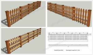 China WPC fence kit OLDA-9023 1m*1.32m on sale