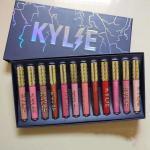 kylie Liquid Lipstick 12pcs set Waterproof Matte Moisturizer Smooth Lip Stick lightning kit Long Lasting