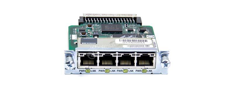 Four port 10/100 Ethernet Switch Interface Card HWIC-4ESW