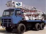 Truck mounted drilling rig in desert TST-150