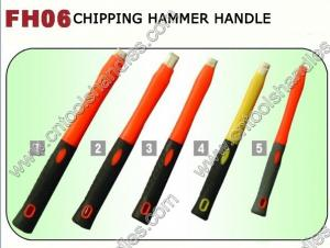 China FH06 chipping hammer fiberglass handle with soft TPR grip, various colors, frp tool handles factory on sale