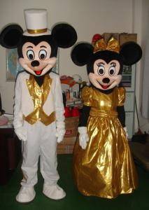 Quality Hand made Mickey minnie mouse mascot costumes for kids for sale