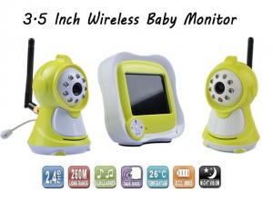 China Yellow Digital Wireless Baby Monitor 3.5 Inch 2.4GHz 300M Transmission Distance on sale