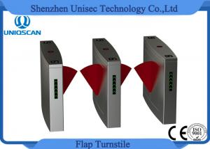 China Fast Speed Flap Barrier Turnstiles Gate Full Automatic 3 Pairs Infrared Sensor on sale