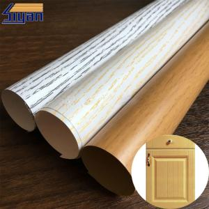 China Wood Grain PVC Membrane Film Rough / Smooth Texture , 0.12mm-0.6mm Thickness on sale