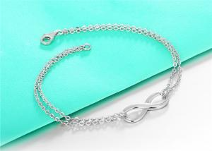 China CZ Infinity Figure Anklet Bracelet For Lady on sale