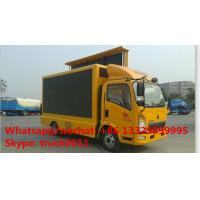 SINO TRUK HOWO light duty 4*2 LHD mobile digital billboard LED advertising vehicle for sale,HOT SALE! HOWO LED truck