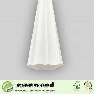 China Finger Joint Wood Casing Gesso Primed Ceiling Moulding Wooden Trimming on sale