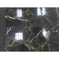 China Best Price China Black Golden Flower Nero Portoro Marble Slabs, China Black Marble Slabs Tiles on sale