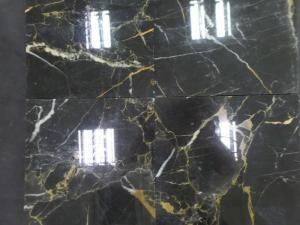 China Best Price China Black Golden Flower Nero Portoro Marble Slabs, China Black Marble Slabs Tiles on sale