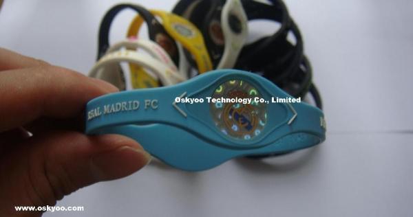 bf25101b482fa Custom Football Team Power Balance Performance Bracelets,FC Real ...