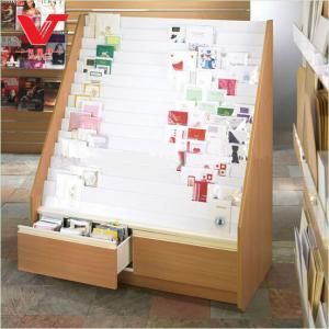 China Wooden Display Stand For Promotion Of Greeting Card and magazines on sale
