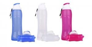 China Portable Collapsible Silicone Water Bottle BPA Free For Hold Water , Milk on sale