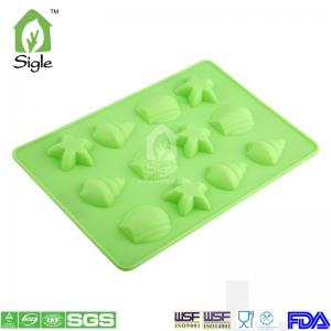 China SILICONE 12-CUP SHELL CHOCOLATE MOLD on sale