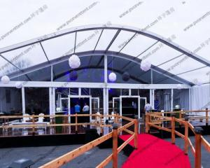 China Ceremony / Celebration Party Arch Curved Tent Luxury Aluminum Alloy With Eave on sale