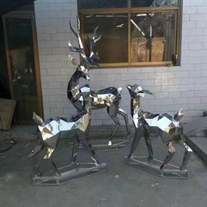 China 2020 Mirror Stainless Steel Rabbit Elk Moose Wapiti Sculpture Fabrication For Sale wholesale