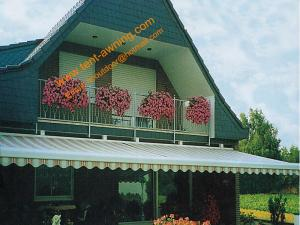 China Patio Balcony Motorized Remote Control Automatic Retractable Electric Awning on sale
