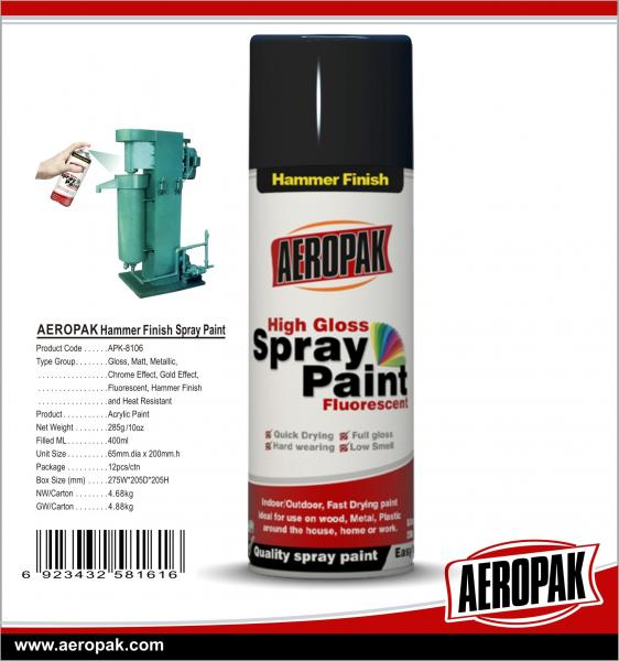 400ml Spray Paint Free Sample Msds Hammer Color Fast Dry