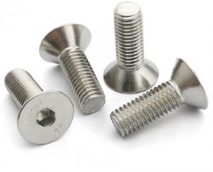 China Stainless Steel 304 Counter Sunk Flat Head Screw with Internal Hex Socket_M3*4/5/6/8 on sale