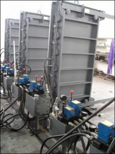China Porte coulissante hydraulique électrique environnementale légère 1000×2000mm on sale