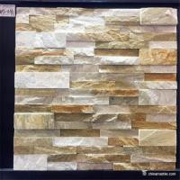 China Slate Culture Stone High Hardness Yellow white Slate Culture Stone For Wall Cladding on sale