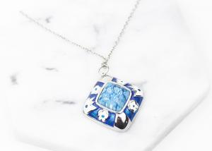 China Women Stainless Steel Jewelry Necklace , Colorful Enamel Custom Stainless Steel Pendant on sale